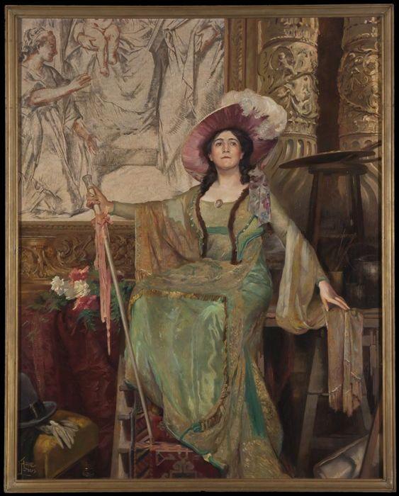 Portret van Alida Klein in de rol van Floria Tosca, Huib Luns 1916 (Museum Rotterdam).