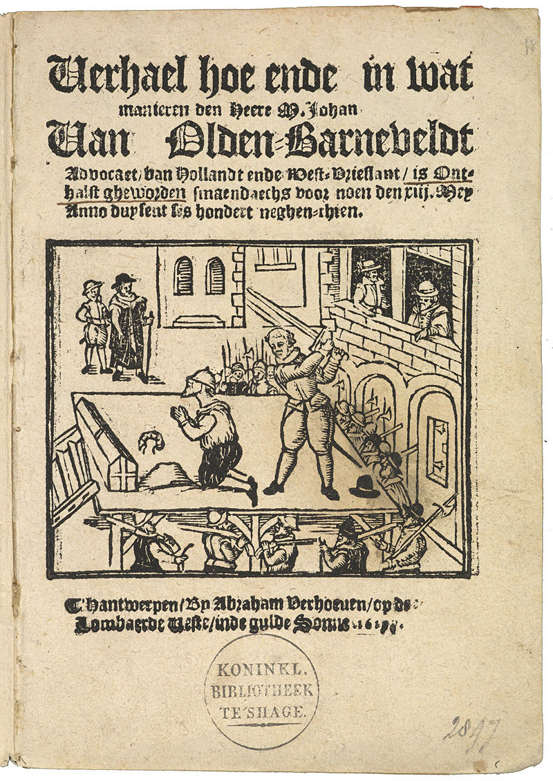 Pamflet executie Oldenbarnevelt 13 mei 1619