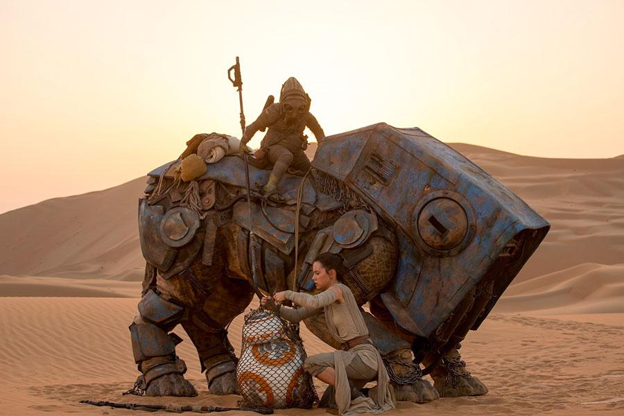 The Force Awakens Star Wars Rey BB-8 Jakku
