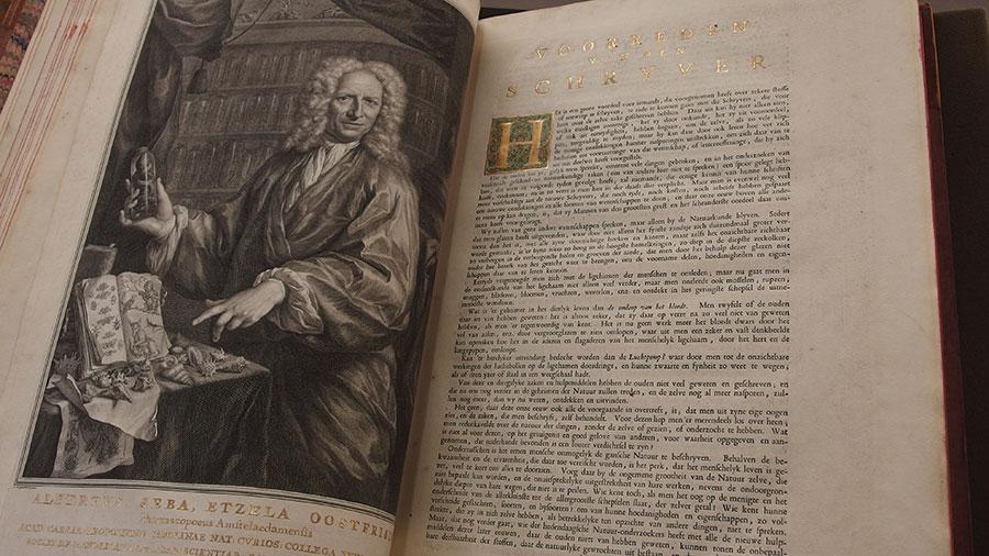 Fagel-collectie Trinity College Dublin bibliotheek Albertus Seba Locupletissimi rerum naturalium thesauri accurata descriptio