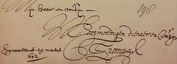 Cornelis Tromp correspondentie Johan de Witt Huygens Instituut voor Nederlandse Geschiedenis