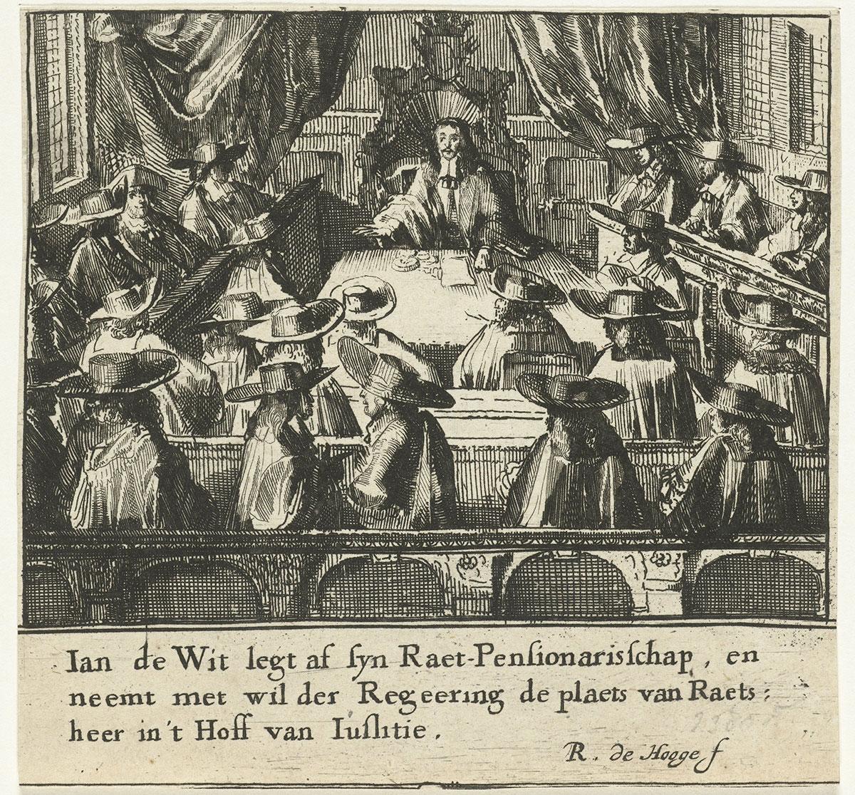 Johan de Witt ontslag raadpensionaris Staten van Holland Rampjaar 1672 Romeyn de Hooghe Rijksmuseum
