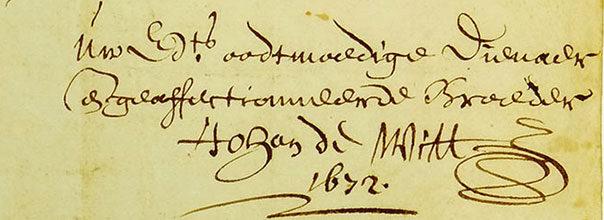 Johan de Witt correspondentie ontslag raadpensionaris Rampjaar 1672