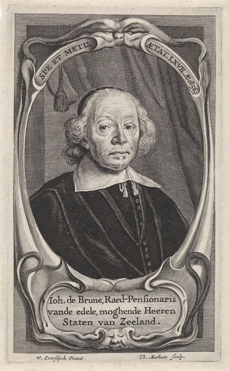 Portret Johan de Brune de Oude Banket-werck